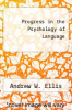 cover of Progress in the Psychology of Language