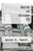 cover of Words of Wisdom CD