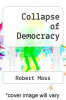 cover of Collapse of Democracy