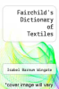 cover of Fairchild`s Dictionary of Textiles (6th edition)