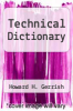 cover of Technical Dictionary