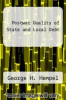 cover of Postwar Quality of State and Local Debt