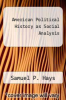 cover of American Political History as Social Analysis (1st edition)