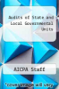 cover of Audits of State and Local Governmental Units