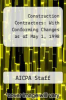 cover of Construction Contractors: With Conforming Changes as of May 1, 1998