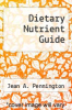 cover of Dietary Nutrient Guide
