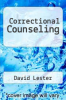 cover of Correctional Counseling (2nd edition)