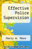 cover of Effective Police Supervision (2nd edition)