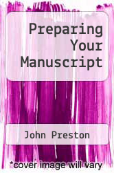 Cover of Preparing Your Manuscript 11 (ISBN 978-0871161444)