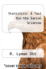 cover of Statistics: A Tool for the Social Sciences (3rd edition)
