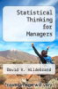 cover of Statistical Thinking for Managers