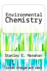 cover of Environmental Chemistry (4th edition)