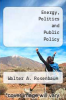cover of Energy, Politics and Public Policy