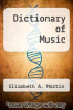 cover of Dictionary of Music