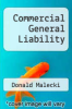 cover of Commercial General Liability (3rd edition)
