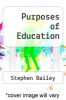 cover of Purposes of Education