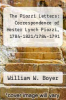 cover of The Piozzi Letters: Correspondence of Hester Lynch Piozzi, 1784-1821/1784-1791