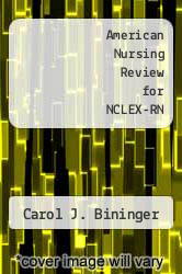 Cover of American Nursing Review for NCLEX-RN EDITIONDESC (ISBN 978-0874341652)