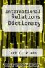 cover of International Relations Dictionary (3rd edition)