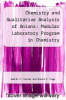 cover of Chemistry and Qualitative Analysis of Anions : Modular Laboratory Program in Chemistry