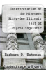 cover of Interpretation of the Nineteen Sixty-One Illinois Test of Psycholinguistic Abilities