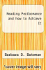 cover of Reading Performance and how to Achieve It