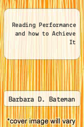 Cover of Reading Performance and how to Achieve It EDITIONDESC (ISBN 978-0875620398)