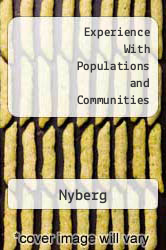 Cover of Experience With Populations and Communities 00 (ISBN 978-0875639765)