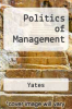 cover of Politics of Management