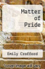 cover of Matter of Pride