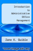 cover of Introduction to Administrative Office Management