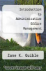 cover of Introduction to Administrative Office Management (2nd edition)