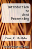 cover of Introduction to Word Processing