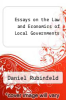 cover of Essays on the Law and Economics of Local Governments