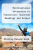 cover of Multinational Enterprise in Transition: Selected Readings and Essays (3rd edition)