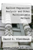 cover of Applied Regression Analysis and Other Multivariable Methods