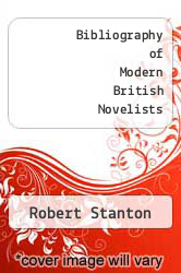 Cover of Bibliography of Modern British Novelists EDITIONDESC (ISBN 978-0878751150)