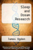 cover of Sleep and Dream Research