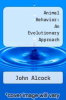 cover of Animal Behavior: An Evolutionary Approach (4th edition)
