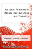 cover of Accident Prevention Manual for Business and Industry (13th edition)