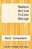 cover of Modern Active Filter Design