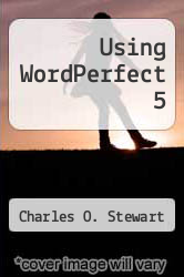 Cover of Using WordPerfect 5 EDITIONDESC (ISBN 978-0880223515)