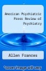 cover of American Psychiatric Press Review of Psychiatry (1st edition)