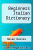 cover of Beginners Italian Dictionary