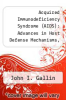 cover of Acquired Immunodeficiency Syndrome (AIDS): Advances in Host Defense Mechanisms, Vol. 5