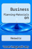 cover of Business Planning-Materials on (2nd edition)