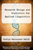 cover of Research Design and Statistics for Applied Linguistics (1st edition)