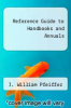 cover of Reference Guide to Handbooks and Annuals ( edition)