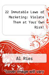 Cover of 22 Immutable Laws of Marketing: Violate Them at Your Own Risk! EDITIONDESC (ISBN 978-0887305924)