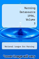 Cover of Nursing Datasource 1996, Volume 3 96 (ISBN 978-0887376955)